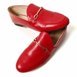 Red Loafers with Gold Detail Size 8.5